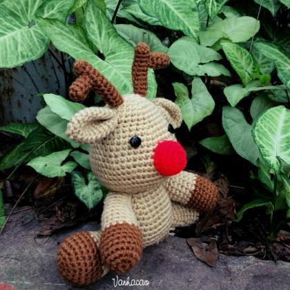 Rudolf The Reindeer - Finished Handmade Amigurumi Crochet ...