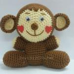 Monkey with Heart Cheeks - Handmade..