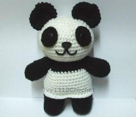 Panda - Finished Handmade Amigurumi crochet doll birthday gift Baby shower toy
