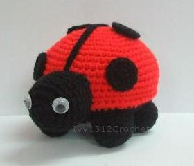 Lady Bug - Finished Handmade Amigurumi crochet doll Home decor birthday gift Baby shower toy