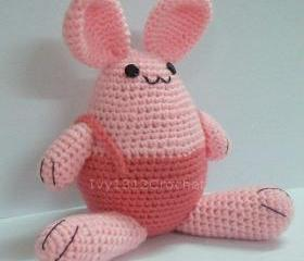 Easter Bunny - Finished Handmade Amigurumi crochet doll Home decor birthday gift Baby shower toy