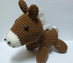 Brown Horse - Finished Handmade Amigurumi crochet doll Home decor birthday gift Baby shower toy