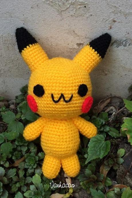 Pokemon Pikachu - Handcrafted Crocheted Amigurumi Pokemon Children Birthday Baby Shower Soft Toy Gift