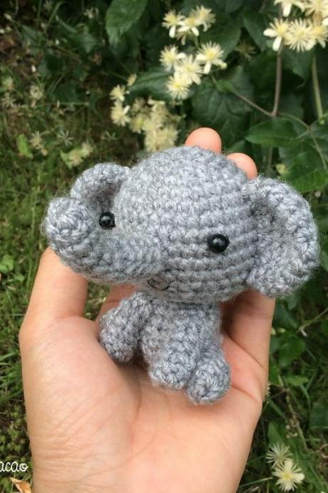 Little Elephant - Handmade Handcrafted Crocheted Amigurumi Christmas Children Birthday Baby Shower Gift (Price for one item)