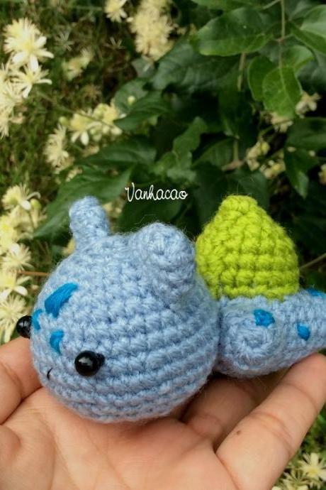 Bulbasaur Pokemon - Handmade Handcrafted Crocheted Amigurumi Children Birthday Baby Soft Toy Home Decor Gift