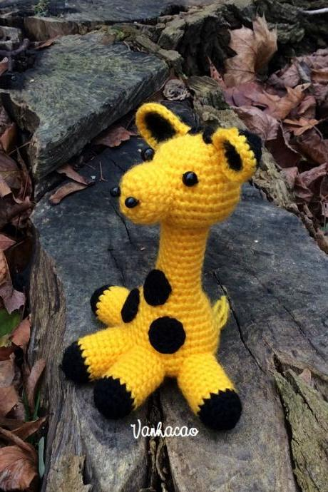 Giraffe - Handmade Crocheted Amigurumi Christmas Birthday Baby Shower Children Gift (Price for one item)